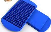 kare buz küpü tepsileri toptan satış-160 Izgaralar DIY Yaratıcı Küçük Ice Cube Kalıp Kare Şekli Silikon Buz Tepsi Meyve Ice Cube Makinesi Bar Mutfak Aksesuarları