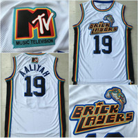 Wholesale Rock Prices - Men's 19 Aaliyah Bricklayers 1996 MTV Rock N Jock Movie Jersey Throwback Fashion Wholesales Lowest Price Free Shipping