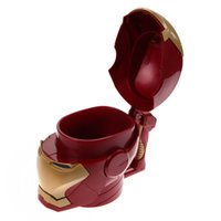 Wholesale lens 3d blue - Kitchen Accessories Iron Man 3d Water Cup Black Eyes Abs Plastic High Quality Kitchen Drinkware Mugs For Kids Birthday Gift
