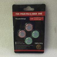 caja del controlador xbox one al por mayor-Envío gratis 4 en 1 Doble Color Thumb Stick Joystick Funda Silicona Cap para PS4 Xbox one PS3 Xbox 360 Controller