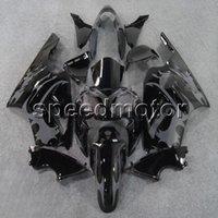 ingrosso corredi zig-zag abs zx12r-23 colori + regali Carena moto stampi ad iniezione grigio fiamme per Kawasaki ZX12R 2002 2003 2004 2005 2006 ZX-12R kit in plastica ABS