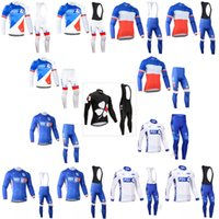 Wholesale fdj team clothing online - FDJ Pro team Long Sleeve Cycling Jersey Ropa Ciclismo Breathable Racing Bicycle Cycling Clothing MTB Bike Clothes F52108