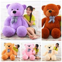Wholesale Huge Teddy Bear Gift - 5 Colors 160cm Giant Plush Teddy Toy Huge Soft Plush Teddy Bear Halloween Christmas Gift Valentine's Day Gifts CCA8598 5pcs