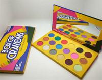 make-up-box fällen großhandel-Dropshipping Make-up Lidschatten-Palette Buntstifte ishadow-Palette Kosmetik 18 Farben Schimmer Schönheit Matt Lidschatten DER CRAYONS-FALL