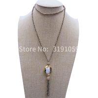 ingrosso valori catena-Nuovo vintage nero colare collana di perle collana di perle di legno sopra gioielli europei e americani del commercio estero