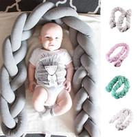 almohadas para recien nacidos al por mayor-INS infantil Dinamarca atar almohadas anudadas Cojín 1.5 m Nudo Sofá almohada cama de bebé almohada Recién nacidos fotografía apoyos C3426