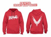 Wholesale Thin Cotton Winter Hat - New winter sweatshirts men Logang Hoodie printed FRONT AND BACK with Eagle Jake & Paul & Logan cotton fleece hoodie sweatshirt