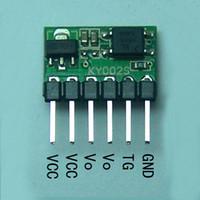 módulo de relé único al por mayor-Freeshipping 3V-24V 5A Flip-Flop Latch Switch Module Biestable solo botón 5000mA LED Relay