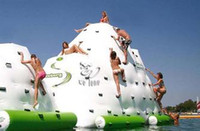 jogos de parque venda por atacado-Água iceberg brinquedo inflável parque aquático jogo da água uso no verão, água rocha escalada super brinquedos grandes