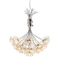 Wholesale modern crystal pendant lights resale online - Hot Modern Crystal Chandelier G4 bulb bulb LED Ceiling Pendant Lighting Lamp High Quality LED Light Chandelier