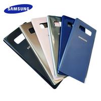 original galaxy note batterie großhandel-Original Samsung Galaxy Note 8 Rückseite Gehäusedeckel Fall Glas zurück Batterieabdeckung Ersatz für Samsung Galaxy Note 8 N950 N950F