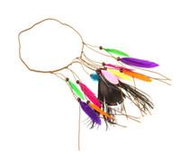 bohem saç takıları toptan satış-Bohemian tavuskuşu tüyü saç ile hippi ulusal saç, hint Püskül saç takı saç bandı toptan perakende