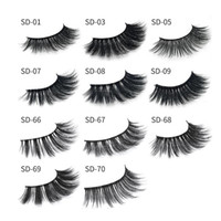 tiras de pestañas de visón al por mayor-2019 MINK pestañas 11 estilos Venta de 1 par de lotes Real Siberian 3D Full Strip False Eyelash Long Individual Mink Lashes Extension