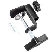 регулируемые металлические зажимы оптовых-Wholesale-Neewer Heavy-duty Metal Table Mounting Clamp for Microphone Suspension Boom Scissor Arm Stand Holder Adjustable Position Screw