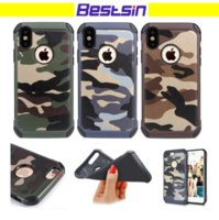 Wholesale Military Shipping Case - Bestsin Army Camo Style Camouflage Case Hard Edge Soft backcover Comobo Military Case Antishock for Iphone 8 plus Free DHL Shipping