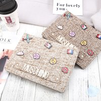 Wholesale ipad protection cases - For Ipad Pro 10.5 Fashion Big-Brand Protection Case Cotton Fabric Letter Tablet PC Cover Case for IPad 2 3 4 5 6 Pro 9.7 Air1 2 Mini Mini4