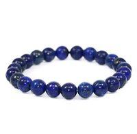 Wholesale semi precious stones bracelets wholesale - JLN Power Beads Bracelet Semi Precious Gems Amazonite Hematite Lapis Stone Elastic Rope Stretch Bracelet Gift For Man Woman