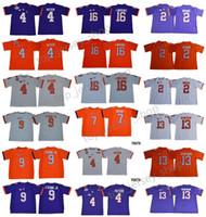 ben jerseys achat en gros de-Maillots de football Clemson Tigers College pour hommes 4 DeShaun Watson Ben Boulware 16 Trevor Lawrence 9 Travis Etienne Jr. Maillot Bryant
