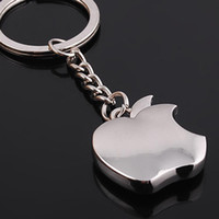 Wholesale bit car - Bite Apple Shape Design Key Charms Metal Fashion Mini Fruits Theme Keychain Special Shape Cute Keys Ring For Car Bag 1 4bs Z