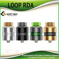 Wholesale Dual Loop - Original Geekvape Loop RDA Tank 24mm Diameter Rebuidable Dripping Atomizer with Selective Single dual Coil Building 100% Authentic.