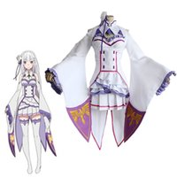Wholesale life wigs for sale - Group buy Re Zero Life in a Different World from Zero Female Emilia Satella Cosplay Costume Any Size Custom Made With Wig Halloween costume