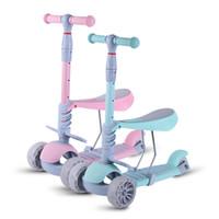 ingrosso una ruota dei bambini-Baby Walker Tre-in-uno a tre ruote per bambini Scooter sedile rimovibile
