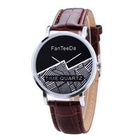 полосатые женские часы оптовых-2018 FanTeeDa women watches#FD101 Mountain stripe seal without scale dial leather ladies casual watch Gift zegarki damskie A80