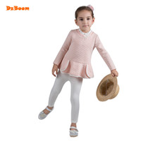 Wholesale Korean Fashion Clothes For Kids - DzBoom Autumn Knitted Pullover Sweater For Girls Children Korean Fashion Winter Baby Sweaters 2017 New Long Sleeve Kids Clothes