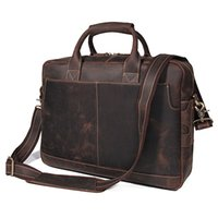 Hot Selling Guarantee Cow Leather Briefcases Men s Unique Design Handbag  15.6 Inches Laptop Bag d88db42ec6dbf