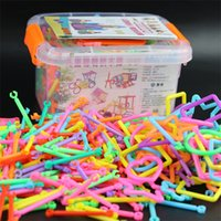 Wholesale smart protection case resale online - Children Puzzle Smart Blocks Plastic Environmental Protection Assembly Intelligence Toy Magic Rod Intubation About In Cases ar W