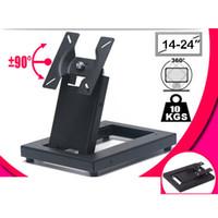 "Wholesale holder tv - 10-30"" steel tilt Touch screen desktop mount 360 rotate tv stand swivel small screen bracket holder"