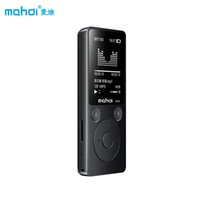Wholesale video record player resale online - Mahdi Sport MP4 Player G G Metal Music Player Support Video FM TF Recording Clock Loudspeaker with Armband Earphone