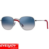 Wholesale aluminum gift boxes - Mens Brand Designer Sunglasses Fashion Sport Outdoor UV400 Sunglasses Metal Frame Red Leather Leg Sunglasses for men With Custom Gift Box