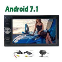 Wholesale music maps - Android 7.1 6.2'' Double Din Universal car dvd HeadUnit 2G+32GB Wifi Video Music GPS Navigation map Automotive 1080P FM AM Radio