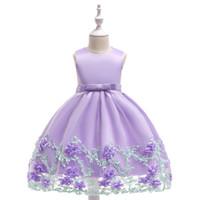 kleine prinzessin blumenmädchen kleider großhandel-Little Flower Girl Kleider mit Rose Tüll Prinzessin Kinder Abendkleider Elegantes Kleid Abendkleid Kostenloser Versand
