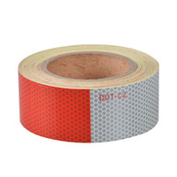 Wholesale White Reflective Tape - Dot Reflective Warning Tape For Trucks Honeycomb Pattern Wholesaler High Bright Red And White Color Waterproof Film