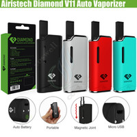 Wholesale plastic kit boxes - Authentic Airis Diamond V11 Auto Vaporizer Vape pen Kits Airistech Box Mod 280mAh Battery CE3 Cartridges Tank Thick Oil ecig Atomizers Vapor