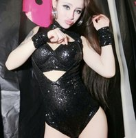 Wholesale singer dance clothing for sale - Sexy Lady Singer Students Costume Silver Black Dance Wear Bar Dj Clothes Stage Costume Women Dancers Singer Stage Show