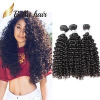 Wholesale Weaves Brazilian Hair Grades - 100% Grade 9A Brazilian Hair Weft Natural Color Curly Human Hair Extensions 3pcs lot Curly Hair Bundles Julienchina Bellahair Free Shipping