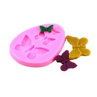 Wholesale butterfly cookies - Hot Butterfly Silicone Mold Shaped Fondant Cake Mold Soap Mould Backware Baking Cooking Tools Sugar Cookie Jelly Pudding Decor