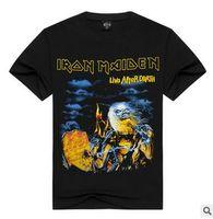 ingrosso magliette 3d europee stampate-Maglietta 3D Maglietta con stampa maschile Maglietta Iron Maiden Maglietta maniche corte in cotone girocollo in cotone europeo ed americano