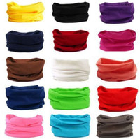 Wholesale face mask bandana neck - HOT Unisex Solid Warm Plain Scarf Tube Bandana Head Face Mask Neck Gaiter Snood Headwearpure Solid