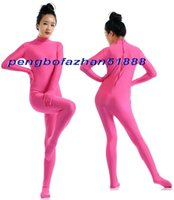 ingrosso abito rosa spandex rosa-Sexy Hot Pink Lycra Spandex Suit Catsuit Costumi Unisex Sexy Body Suit Costumi Outfit Halloween Party Fancy Dress Costumi Cosplay P379