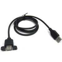 Wholesale usb extension cable motherboard resale online - USB Extension Cable with Screw Panel Mount USB Male to Famale Cables Connectors For Computer Motherboard Panel Mount USB Tailgate Cable