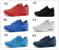 Wholesale fusing silver - Air 90 HY PRM QS Men Women Running Shoes Air 90s HyperS fuse American Flag Black White Navy Blue Gold Silver Sport Trainers