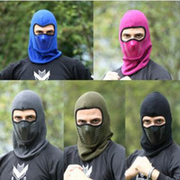 Wholesale cs day resale online - Bike Cycling Hat Winter Warm Neck Face Mask Unisex Outdoor Sport Mask Thermal Flannel CS Hat Ski Hood Helmet Caps Color