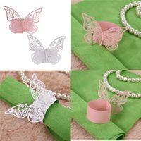 ingrosso carte a forma di farfalla-50pcs forma di farfalla a forma di farfalla portatovaglioli porta carta per cene tavoli da pranzo casa matrimonio compleanno data decorazioni per feste
