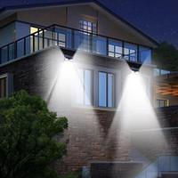 luzes led jardim venda por atacado-24 Luzes LED Solar À Prova D 'Água Moderna Sensor de Movimento Da Parede Luz para Pátio Quintal Caminho Do Jardim Casa Driveway