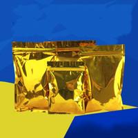 сумка золотая пластина оптовых-Алюминиевая фольга покрытие упаковка мешок пищевой костяной Самоуплотняющиеся мешки порошок туалетный хранения Золотой изысканный легкий 33oy6 jj