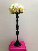 ingrosso supporto fiore nero-2017 nuovo elegante Tall metallo colore nero basamento del fiore vaso di candela titolare per la tavola di nozze centrotavola decorazione tutti 4 colori! lassock